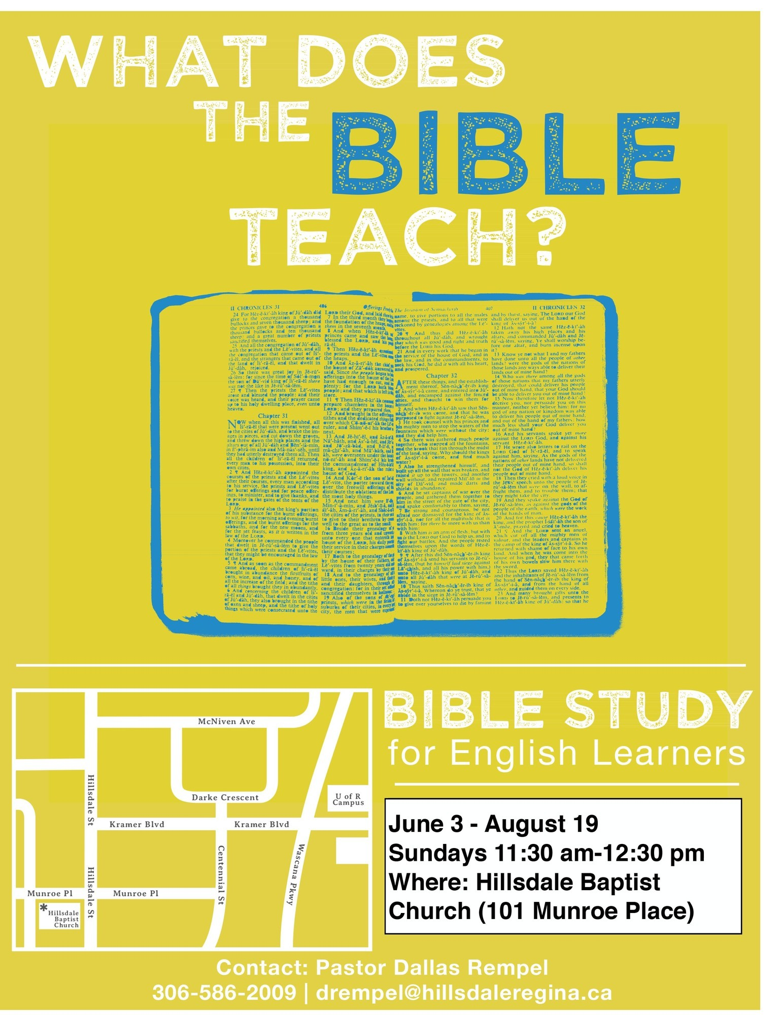 Conversational English Bible Study Summer 2018