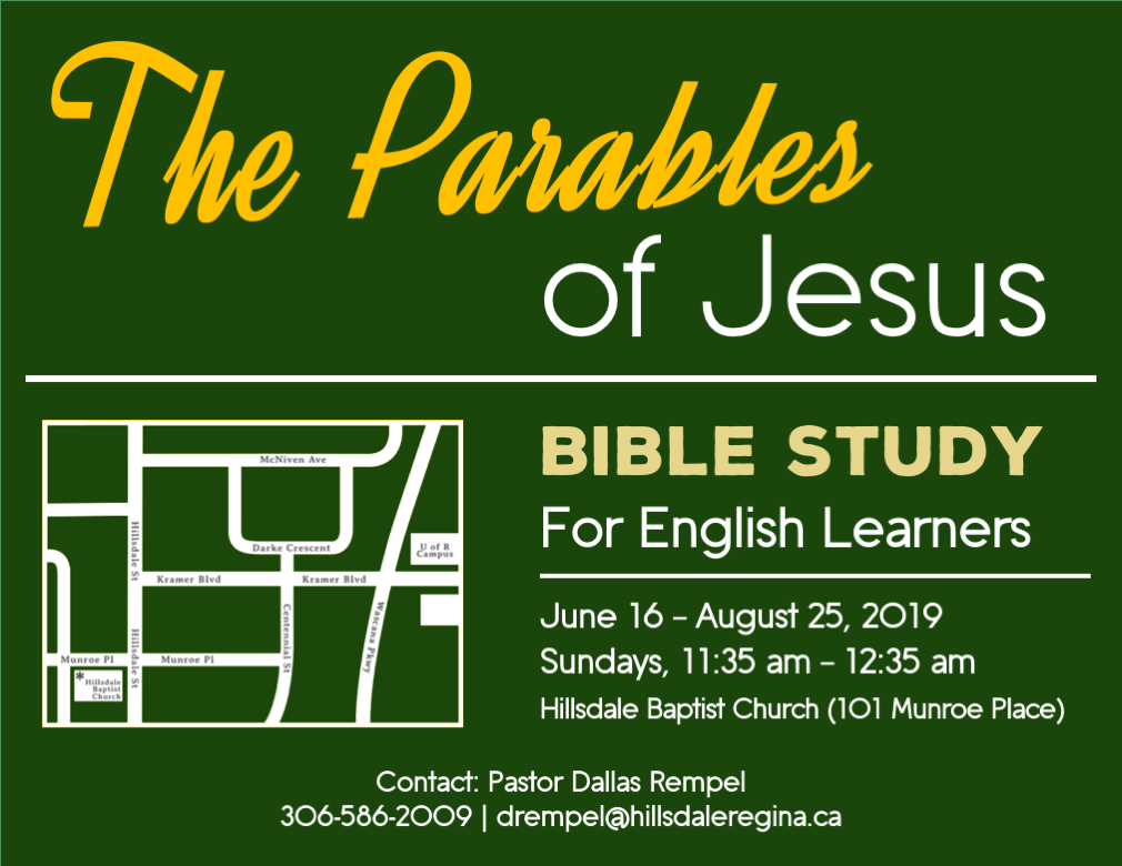 English Learner's Summer Bible Study